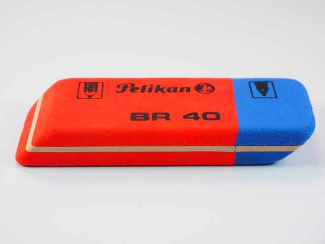 blue office eraser orange